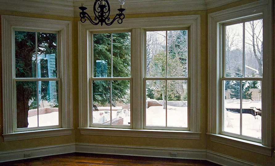 The 1920's, a time when the craft was taken seriously. This inviting walk out bay window was fashioned with replicated molding. Note the outlets in the baseboard.  We can create any molding profile you may need.